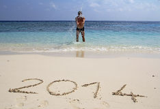 欢迎2014年 免版税库存图片