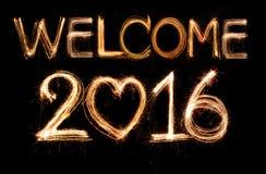 欢迎2016年 库存照片