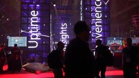 欣德勒公司一个明亮的立场在企业论坛的 影视素材