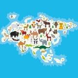 欧亚大陆动物 库存例证