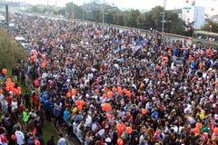 欧亚大陆洲际的伊斯坦布尔马拉松 免版税库存照片