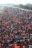 欧亚大陆洲际的伊斯坦布尔马拉松 免版税库存图片