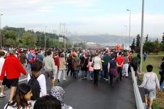 欧亚大陆洲际的伊斯坦布尔马拉松 库存照片