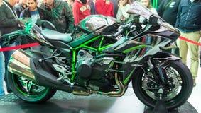 欧亚大陆Moto自行车商展 库存图片