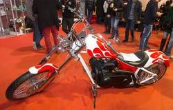 欧亚大陆Moto自行车商展 库存照片