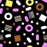 欧亚甘草糖果无缝的样式 免版税库存图片