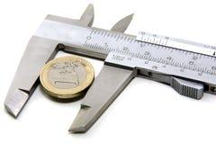 欧元一个值 免版税图库摄影