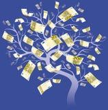 欧元一百个结构树二 免版税库存图片