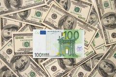 欧元一百偏僻一个  免版税图库摄影