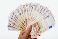 欧元五十 库存图片