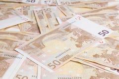 欧元五十 免版税图库摄影