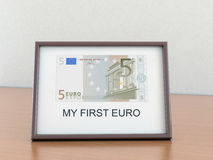 欧元五框架 免版税图库摄影