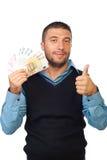 欧元产生藏品人货币略图 免版税库存照片