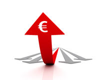 欧元努力成功 向量例证