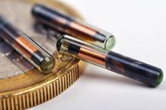 欧元和植入管 图库摄影