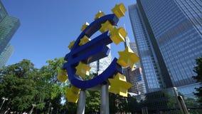 欧元塔在法兰克福 股票视频