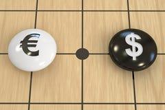 欧元对美元概念 皇族释放例证
