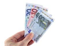 欧元工资 库存图片