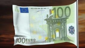 100欧元旗子 影视素材