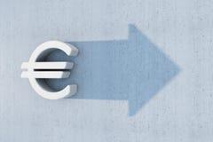 欧元是增长 库存例证