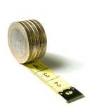 欧元查出的磁带 免版税图库摄影