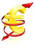 欧元汇率概念 库存照片