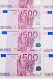 欧元注意反映 免版税库存照片
