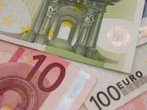 欧元注意反映 图库摄影