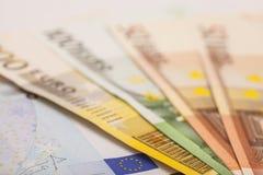 欧元注意反映 库存照片