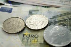 欧元的末端 库存照片