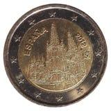 2欧元硬币,欧盟 免版税图库摄影