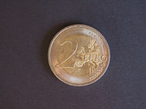 2欧元硬币,欧盟 库存图片