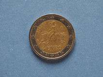 2欧元硬币,欧盟 免版税库存图片