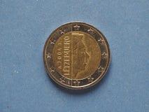 2欧元硬币,欧盟 库存照片