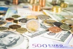 2欧元硬币 库存图片