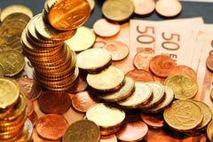 欧元硬币 免版税图库摄影