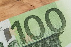 100欧元笔记-图象 免版税库存照片
