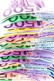 欧元货币栈 库存照片