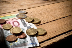 欧元金钱 库存照片