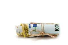 欧元金钱 免版税图库摄影