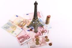 巴黎欧元金钱 库存图片