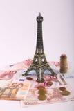 巴黎欧元金钱 免版税库存照片