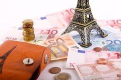 巴黎欧元金钱 库存照片