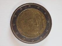 2欧元金钱EUR 库存图片