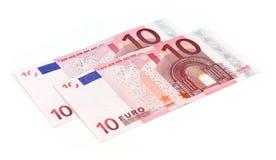 10欧元钞票 库存图片