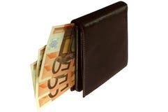 欧元钱包 库存图片
