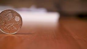 20欧元银色纪念硬币西班牙2010年-国际足球联合会世界杯 股票视频