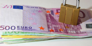 欧元锁定了 免版税库存照片
