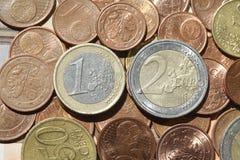 欧元,硬币,金钱 库存照片