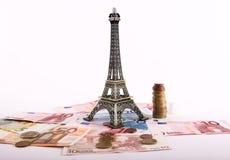 欧元,巴黎 库存图片